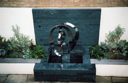 water feature London garden designer