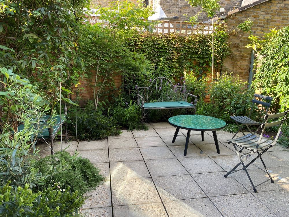 Mediterranean courtyard garden